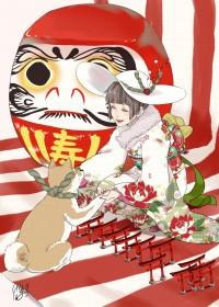 小川錦のイラスト