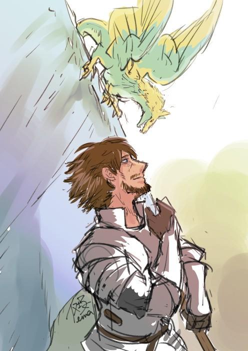 竜と竜騎士作品詳細illustdays シンプルイラストポートフォリオ