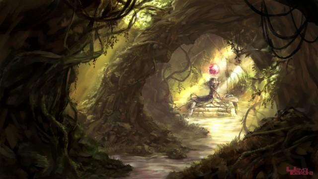 森林洞窟作品詳細illustdays シンプルイラストポートフォリオ