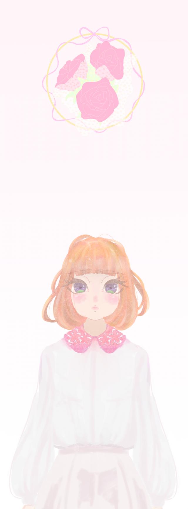 可愛い女の子 作品詳細 Illustdays シンプルイラストポートフォリオ